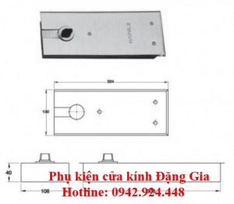 3 model bản lề sàn Hafele được cung cấp tại Đặng Gia: 2