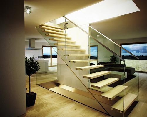 Cầu thang kính cao cấp 1