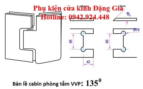 Các modulbản lề cabin phòngtắm kính VVP 3