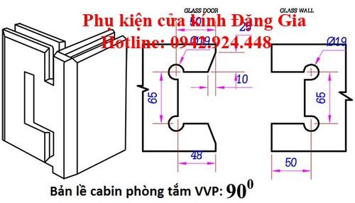 Các modulbản lề cabin phòngtắm kính VVP 2