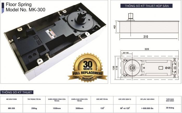 Bản lề sàn Miken mã MK-300 1