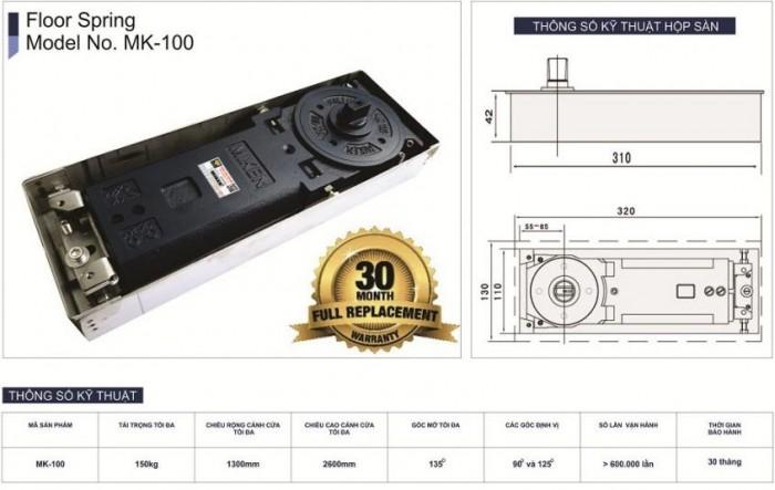 Bản lề sàn Miken mã MK-100 2