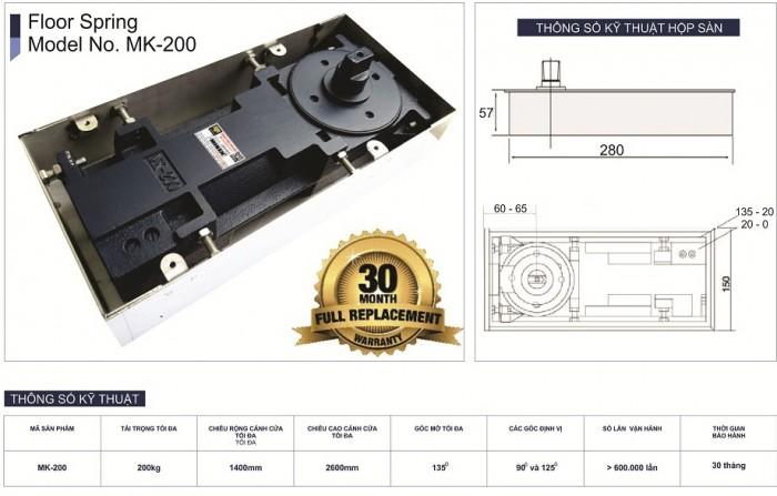 Bản lề sàn Miken mã MK-200 1