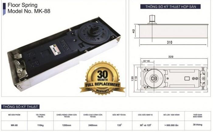 Bản lề sàn Miken mãMK-88 2